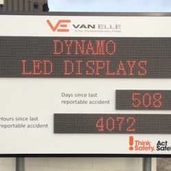 LED Health and Safety Display Dubai